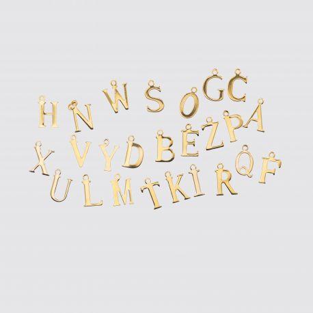 Big Letter Plain Gold