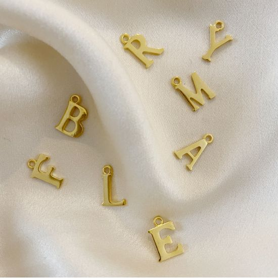 Golden Letter for Customizable Jewel