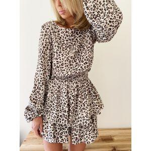 Leopard short clothing jumpsuit