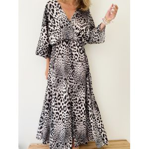 Leopard dress black and White
